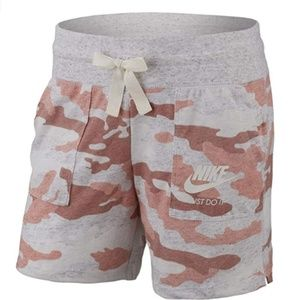 NIKE Girl's Sportswear Gym Vintage Camo Shorts NWT